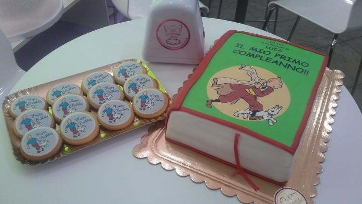 Torta e Biscotti dedicati a Tintin